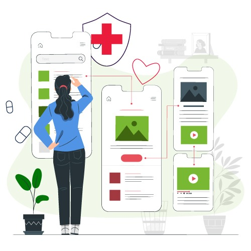 Interactive HEalthcare App UI/UX Design and Development